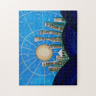 Puzzle Ville bleue de désert