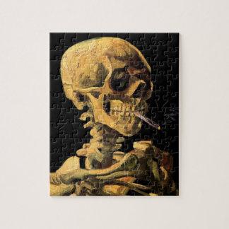 Puzzle Vincent van Gogh - crâne avec la cigarette