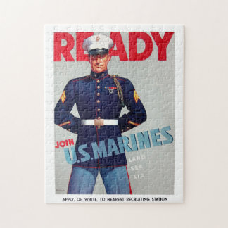 """Puzzle vintage d'affiche d'un """"prêt"""" de Marine Cor"""