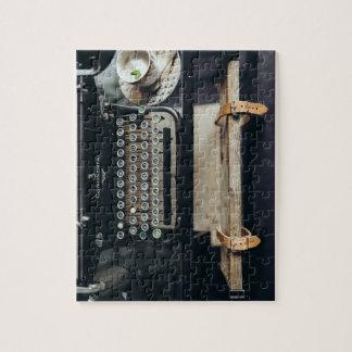 Puzzle vintage de machine à écrire