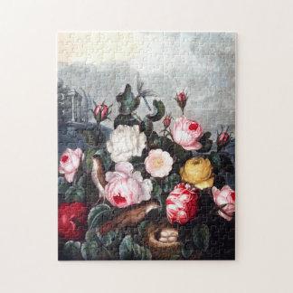 Puzzle vintage de roses