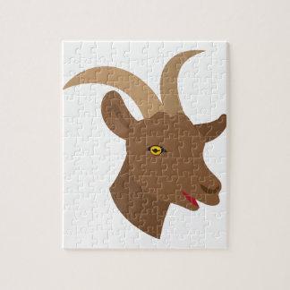 Puzzle visage mignon masculin de chèvre
