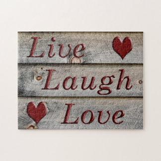Puzzle Vivent l'amour de rire du côté d'une grange