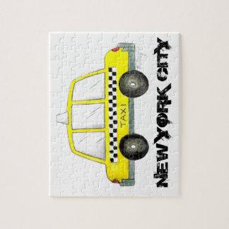Puzzle Voiture Checkered jaune de cabine du taxi NYC New