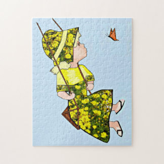 Puzzle Voler avec le papillon
