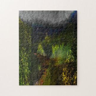 Puzzle Voyage vert de forêt
