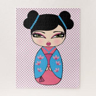 Puzzle w/Gift de la poupée 16 x 20 de Kokeshi boîte du