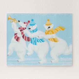 Puzzle w/Gift du défilé 16 x 20 d'ours blanc d'hiver