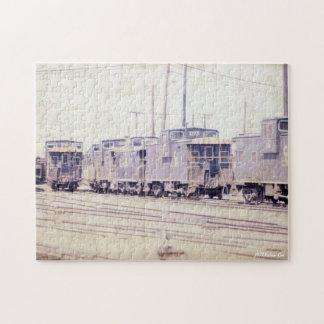 Puzzle Wagons de chemin de fer, cambuse vintage de photo