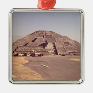 Pyramide de la lune, ANNONCE c.100-350 construite Ornement Carré Argenté