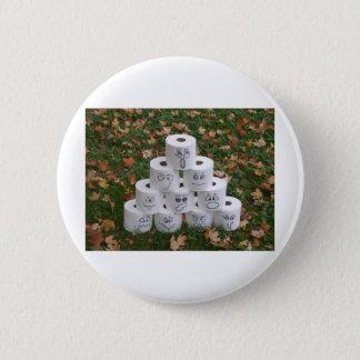Pyramide de papier hygiénique badge rond 5 cm