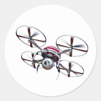 Quadrocopter de bourdon sticker rond
