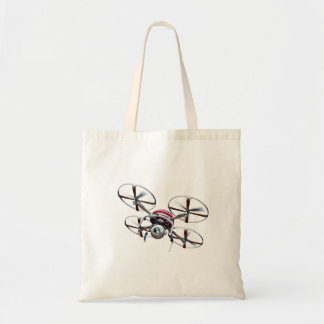 Quadrocopter de bourdon tote bag