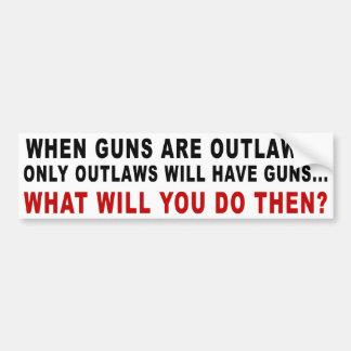 Quand des armes à feu sont proscrites autocollant de voiture