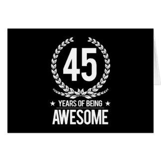 quarante-cinquième Anniversaire (45 ans d'être Carte De Vœux