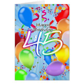 quarante-cinquième anniversaire - carte