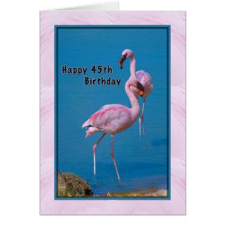 quarante-cinquième Carte d'anniversaire avec le
