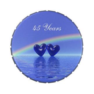 quarante-cinquième Coeurs de saphir d'anniversaire Boites Jelly Belly