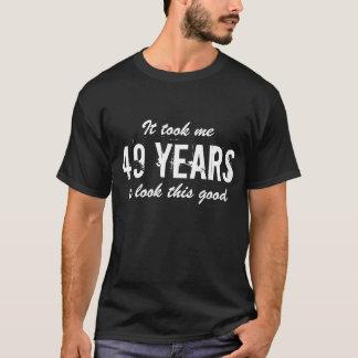 quarante-neuvième T-shirt d'anniversaire pour