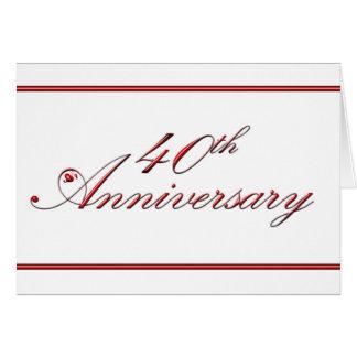 quarantième Anniversaire (anniversaire de mariage) Carte De Vœux