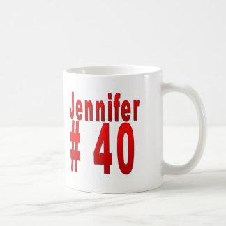 Quarantième anniversaire de Jennifer Mug Blanc