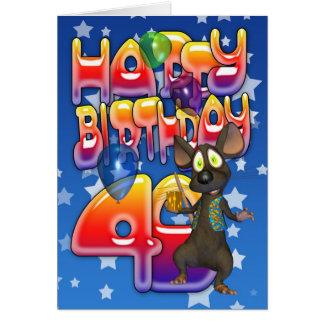quarantième Carte d'anniversaire, joyeux