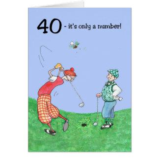 quarantième Carte d'anniversaire pour un golfeur