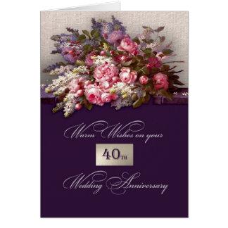 quarantième Cartes de voeux d'anniversaire de mari