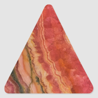Quartz rayé saumoné sticker triangulaire