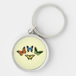 Quatre papillons - porte - clé porte-clés