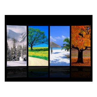 Quatre saisons carte postale