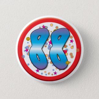 quatre-vingt-dix-huitième Anniversaire Badge Rond 5 Cm