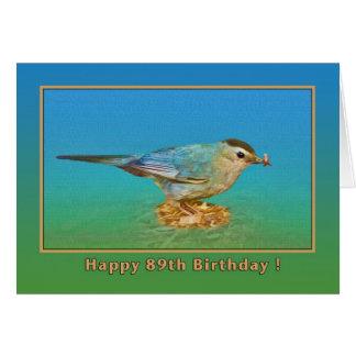 quatre-vingt-dix-neuvième Carte d'anniversaire
