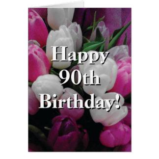 quatre-vingt-dixième Carte d'anniversaire avec le