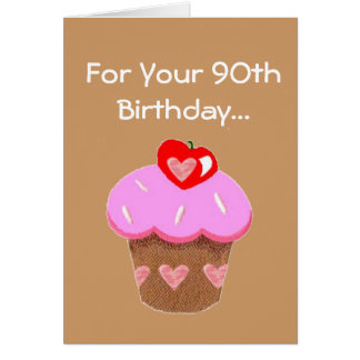Quatre-vingt-dixième carte d'anniversaire de petit