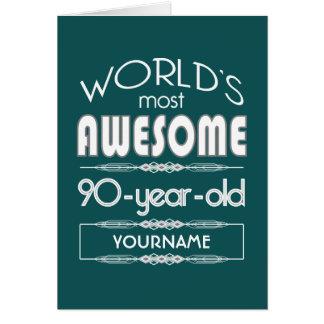 quatre-vingt-dixième D'anniversaire des mondes Carte