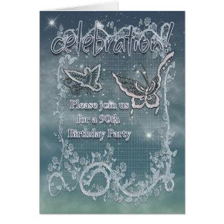 quatre-vingt-dixième Fête d'anniversaire - Carte
