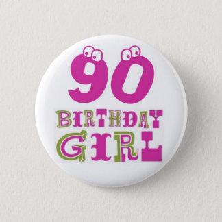 quatre-vingt-dixième Insigne de bouton de fille Badge Rond 5 Cm