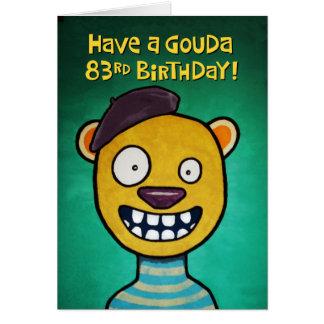 Quatre-vingt-troisième carte d'anniversaire drôle