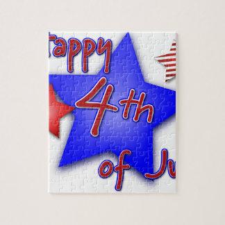 Quatrième de célébration de juillet puzzle