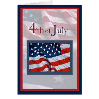 Quatrième de juillet avec la carte de drapeaux