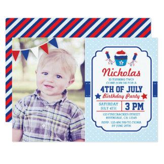 Quatrième d'invitation de fête d'anniversaire de carton d'invitation  12,7 cm x 17,78 cm
