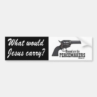 Que Jésus porterait-il ? Blessed sont le Autocollant De Voiture