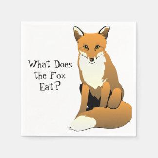 Que le Fox mange-t-il ? Serviettes Serviette Jetable