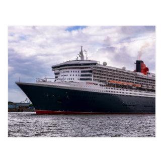 Queen Mary II dans le port de Hambourg Carte Postale