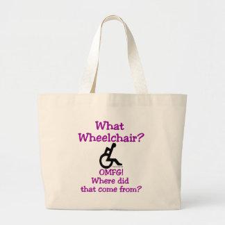 Quel fauteuil roulant sac en toile jumbo