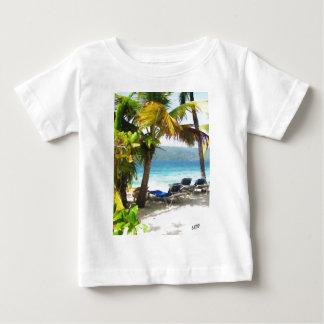 Quelque part dans le paradis t-shirt pour bébé