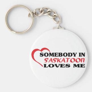 Quelqu'un à Saskatoon m'aime Porte-clés
