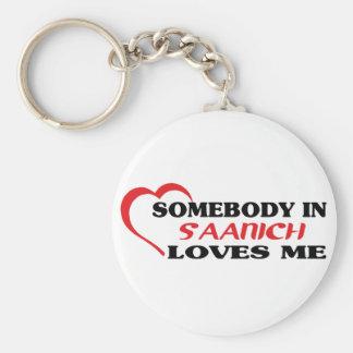 Quelqu'un dans Saanich m'aime Porte-clés