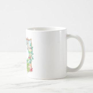 Queue de fantaisie Mercat avec le calmar Mug